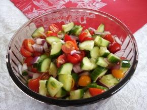 Fresh salsa salad