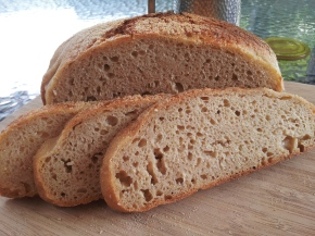 Easy oat bran sourdough