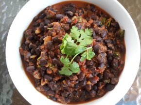 Black Bean Chili, with or without the heat