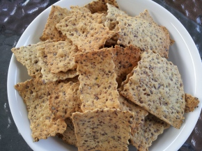 Flax and Atta (whole wheat flour) Crispy Crackers